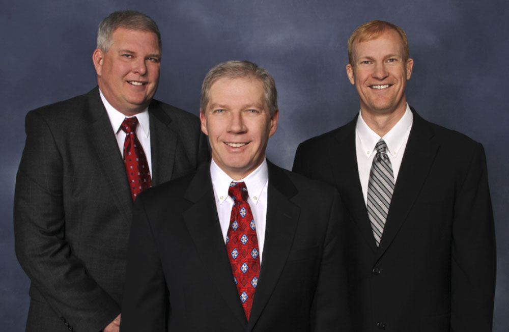 Attorneys John Becker, Thomas Durkin, and Scott French